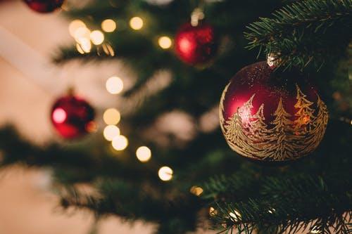 Christmas balls on tree image